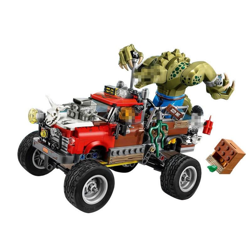 LEPIN Batman Series Killer Croc Tail-Gator Building Blocks Bricks Movie Model Kids Toys Marvel Compatible Legoe