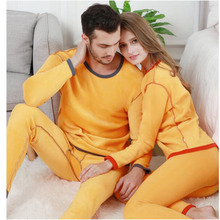 Winter Lover Thermal Underwear For Women Men Layered Clothing Pajamas Thermos Long Johns Velvet Thick Second Female Skin