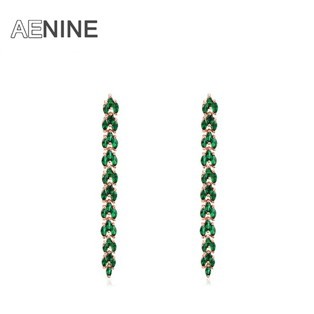 AENINE Luxury Jewelry Gold Plated Statement Crystal Earrings For Women Party Wedding Free Shipping 1021091728