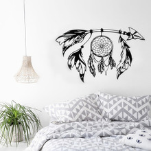Arrow Wall Decal Dreamcatcher Vinyl Wall Sticker Bohemian Design Bedroom Decor Dream Catcher Feathers Symbol Wall Mural AY1451 arrow wall decal dreamcatcher vinyl wall sticker bohemian design bedroom decor dream catcher feathers symbol wall mural ay1451