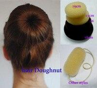 Big Hair Bun Doughnut Tie Donut 10cm Hair Tie Bun Hair Styler Bun Ring Updo Free