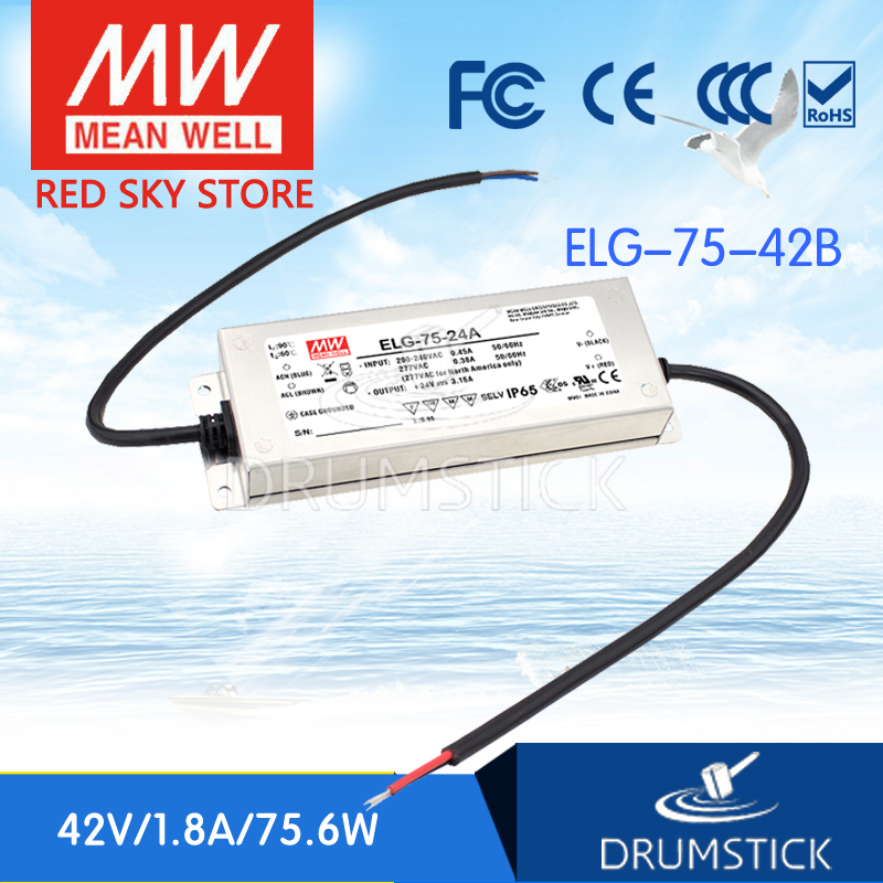 цена на Hot sale MEAN WELL ELG-75-42B 42V 1.8A meanwell ELG-75 42V 75.6W Single Output LED Driver Power Supply B type