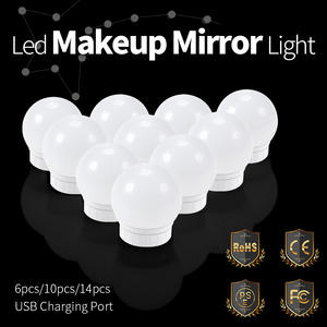 Bulbs-Kit Cosmetic-Lights Makeup-Mirror Vanity Bathroom-Wall-Lamp Brightness Hollywood