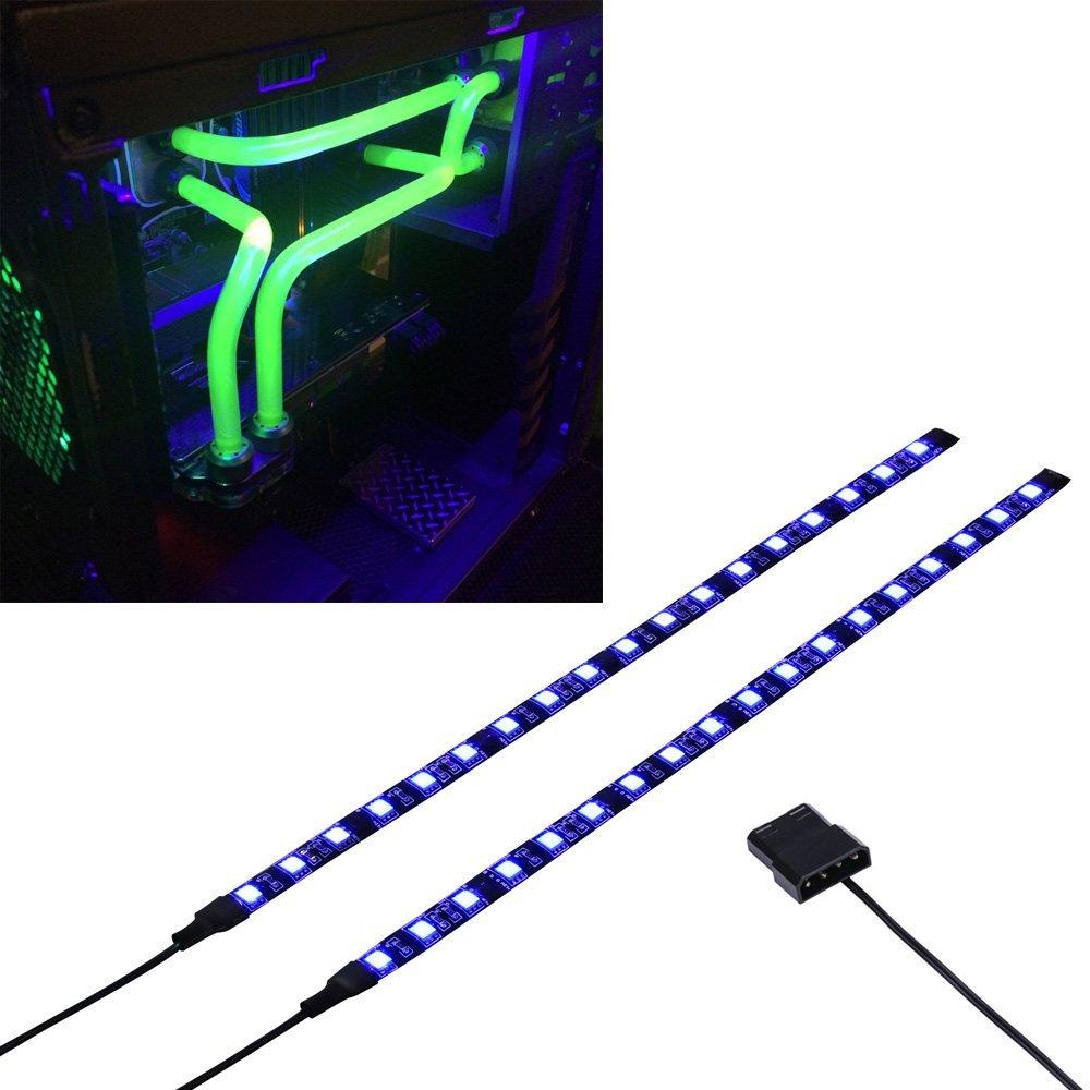 LED Computer Lighting Light Strip RED/Green/Blue/UV Magnetic Molex 2X LED Strip For PC Case Lighting Kit (30cm,18leds,S Series)