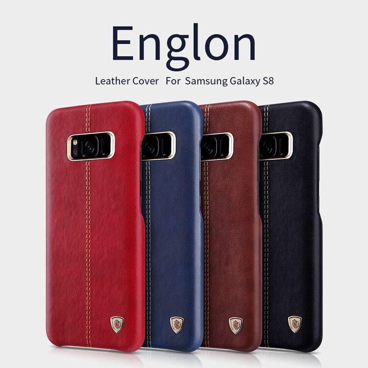 For Samsung Galaxy S8 Plus case Original NILLKIN Englon Hight Qualidy Leather case For Samsung Galaxy S8 Bumper Case