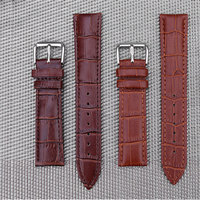 Leather Watchband Accessories Fashion For Men And Women Buckle Flat