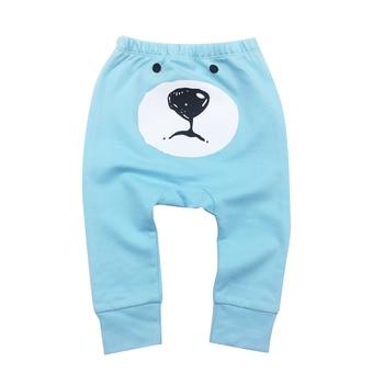 Pantalones de bebé a la moda modelo 2018, pantalones de bebé con estampado animal de dibujos animados, pantalones de bebé para chico