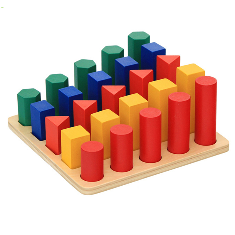 Geometry Ladder Wooden Montessori Toys For Children Learning Education Wooden Senses Toys Development  Baby Training Popular Toy