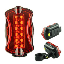 Bike Light for Bicycle Bike Accessories 5 LED Waterproof Bike Safety Tail Light Safety Warning Flashlight T2