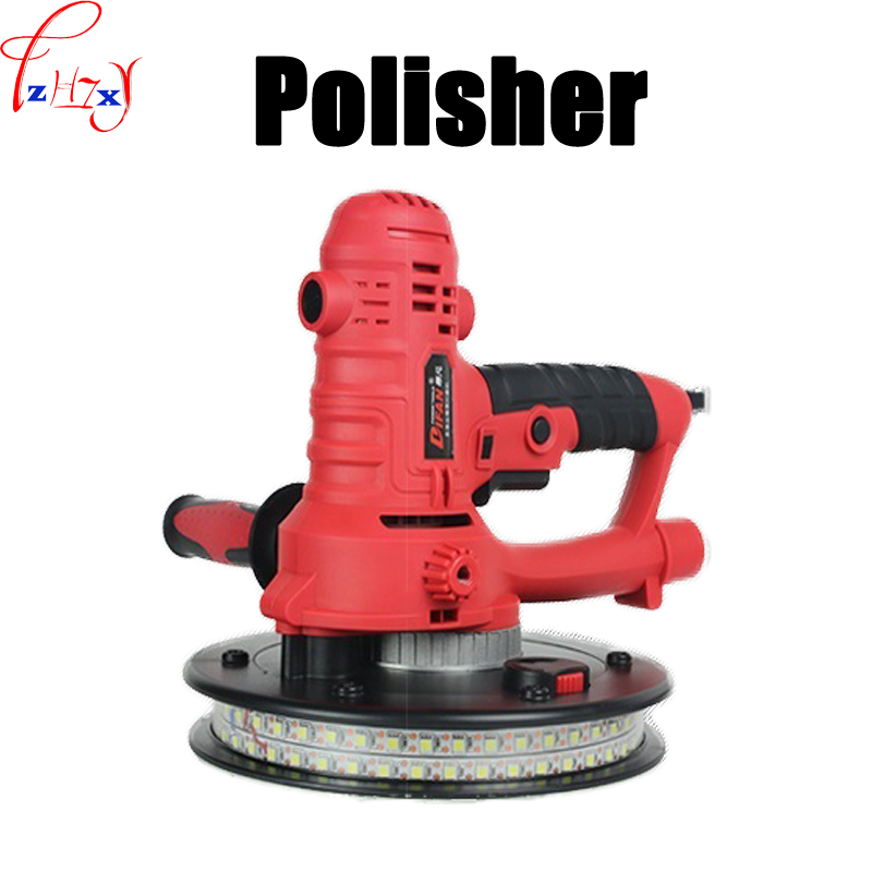Dustless wall sander DF-180B double row lamp tape wall polishing machine surface putty grinding polishing machine 220V 800W 1PC auto polishing machine putty 6 inch pneumatic sander grinder sealing glaze car waxing machine sanding machine