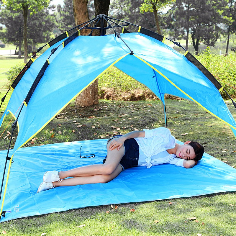 Sand Free Mat Blanket Pad for Beach Tent Hiking+Storage Bag C&ing Mat Outdoor Waterproof Foldable Picnic Pads-in C&ing Mat from Sports u0026 Entertainment ... & Sand Free Mat Blanket Pad for Beach Tent Hiking+Storage Bag ...