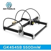 GKTOOLS 45 45cm 5500mW Wood Laser Engraver Cutter Engraving DIY Machine Mini CNC Printer PWM Benbox