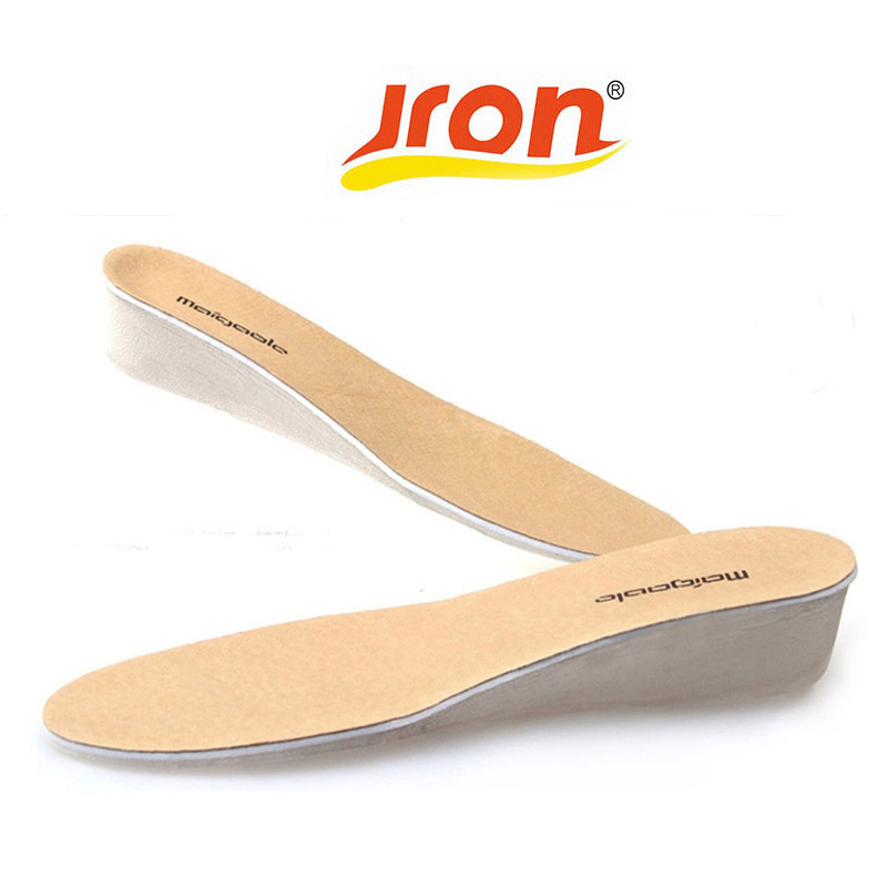 One Pair Orthopedic Leather Increased insole 2.5 CM Cushion Shoe Lift Height Increase Heel Insoles Pair Taller For Men and Women feet care unisex 1 pair 5 layers adjustable taller insole silicone gel cushion lift shoe pads height increase comfortable