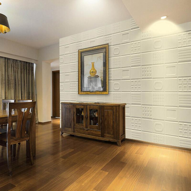 30X60CM Waterproof PE Foam 3D Wall Stickers Safty Anti-collision Wallpaper DIY Wall Decor Brick Living Room Home Decor Sticker