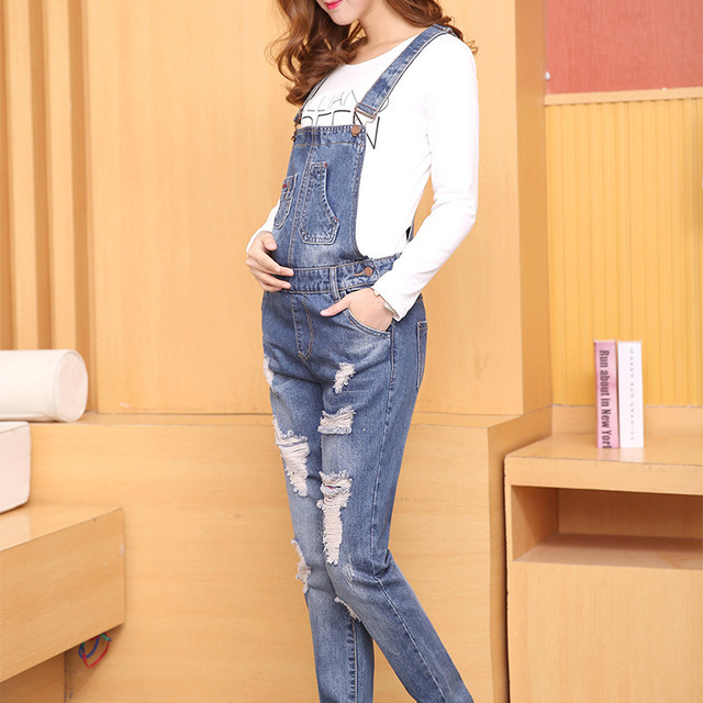 5bf8fd69667c2 New Jeans Maternity Pants For Pregnant Women Dungarees Clothes Trousers  Prop Belly Legging Pregnancy Clothing Bib Overalls Pants
