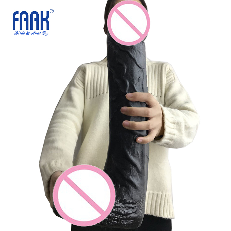 FAAK 42*8cm Super Huge Dildo With Suction Cup For Female G-spot Anal Masturbation, Big Penis Strong Dong,Cock Sex Toys For Women