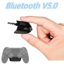 3.5mm Bluetooth V5.0 5G ses adaptörü için Sony Playstation 4 PS4 kablosuz kulaklık mikrofon herhangi bir Bluetooth kulaklık 2019 yeni