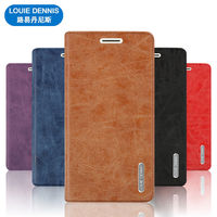 LOUIE DENNIS Matte PU Leather Cover Case For ZTE Nubia Z17S Z17 S Card Slot Stand