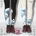 Princesa doce meia calça lolita japonês as ondas geleira impresso mão meia calça LKW06