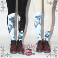 Princess sweet lolita pantyhose Japanese the  waves glacier hand-printed pantyhose LKW06