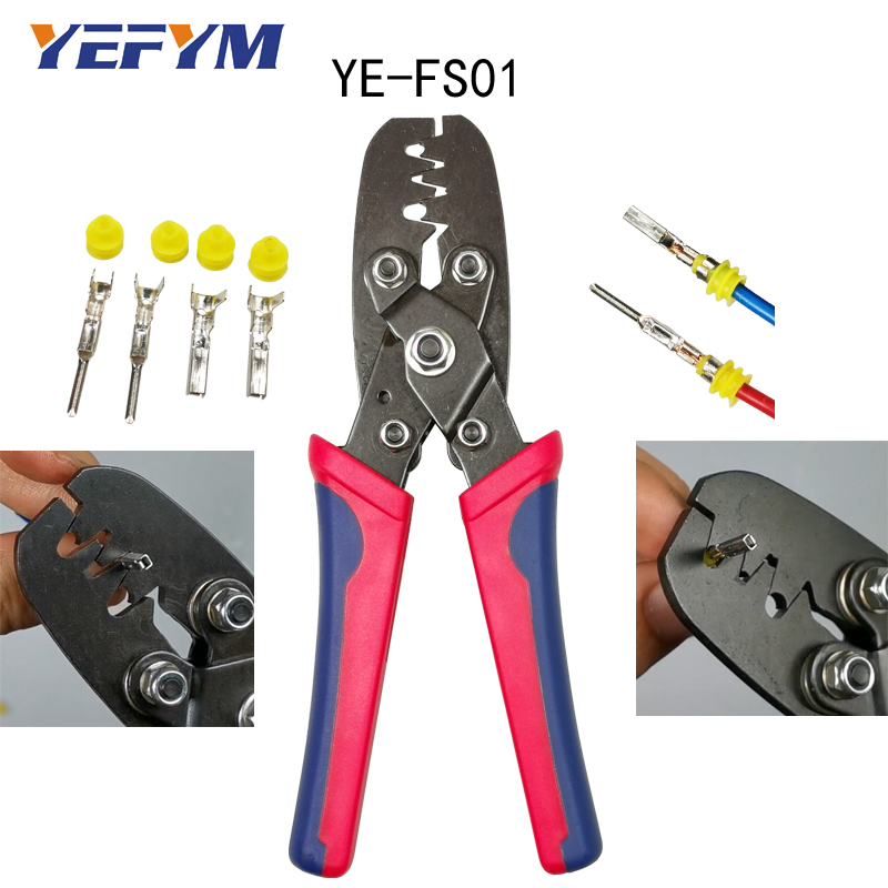 Automotive Waterproof Connector Terminal Crimping Tool Pliers Two Crimping Method Japanese Version For 0.35-2mm2 Terminal