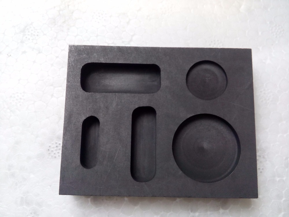 Five hole pure graphite ingot mold casting coin