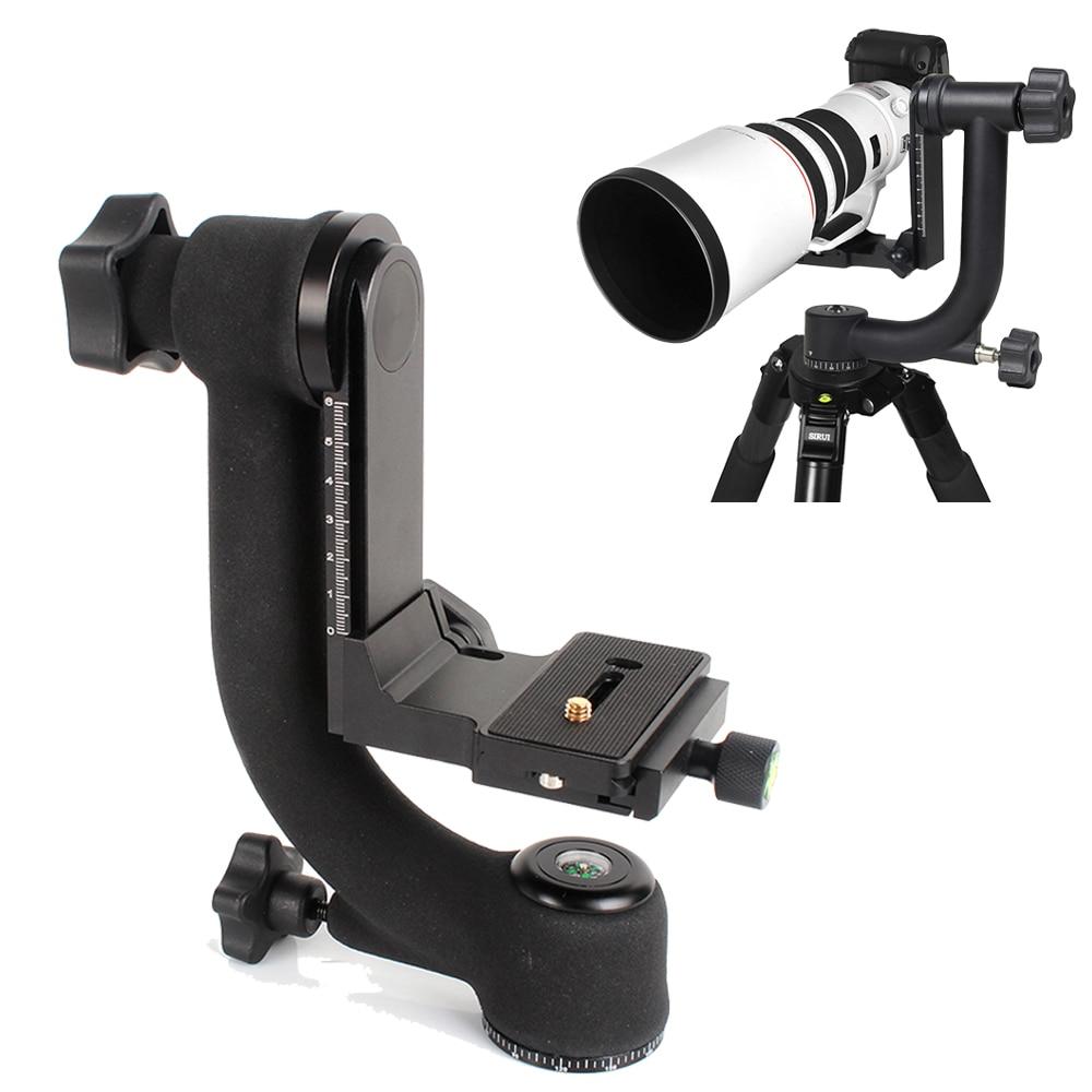 """bilder für Professionelle 360 Grad Panorama Gimbal Stativ-kugelkopf 1/4 """"Schraube w/Schnellwechselplatte Für DSLR Kamera Tele objektiv"""