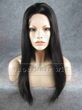 22″ Silky Straight Silk Base Full Lace Human Hair Wigs100% Malaysia Natural Black Color Weave Virgin Remy Weave Extensions