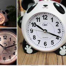 Будильник с мультяшной пандой, Ночной светильник, электронный колокольчик, 16 полифонических нот, супер тихий Повтор будильника