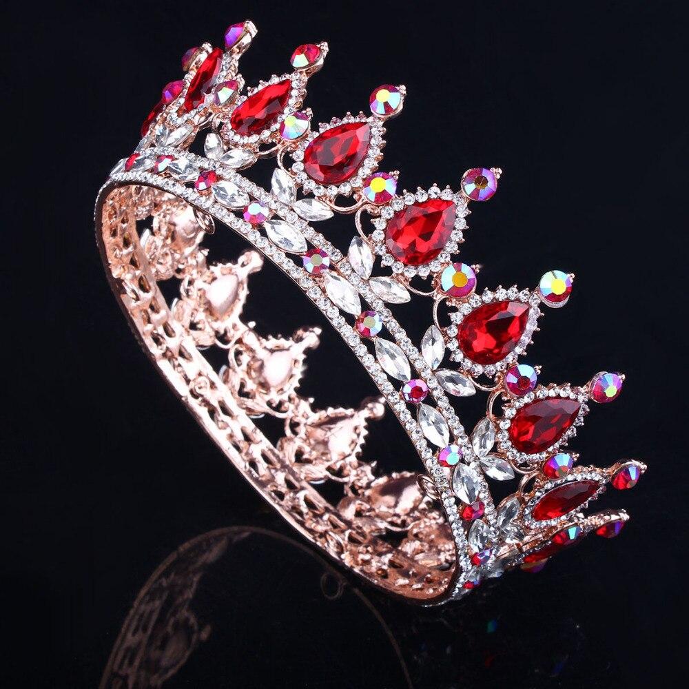 Hot European Designs royal king queen crown rhinestone tiara head