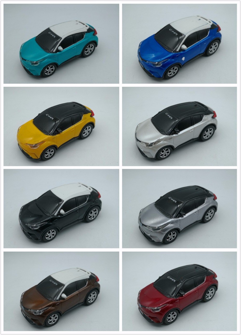 1:43 Plastic Toy Car for Toyota C-HR 2017 SUV Pull Back (Random Color) Model Car Gifts CHR C HR