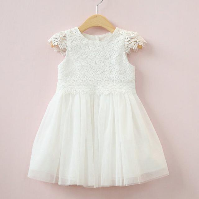 Primavera Impressão Vestidos 2017 Novos Vestidos de Festa Da Princesa da menina do Algodão Bonito Do Bebê Vestido de Moda Infantil Roupas de verão