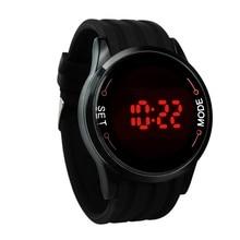 Мужские часы модные водонепроницаемые мужские часы светодиодный сенсорный экран дата Силиконовые наручные черные наручные часы Relojes mujer