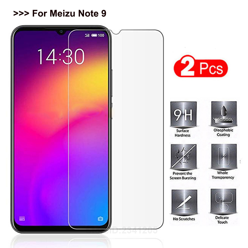 GerTong 2Pcs 9H Premium Tempered Glass For Meizu Note 9 Glass Screen Protector Transparent On For Meizu Note9 HD Protective Film