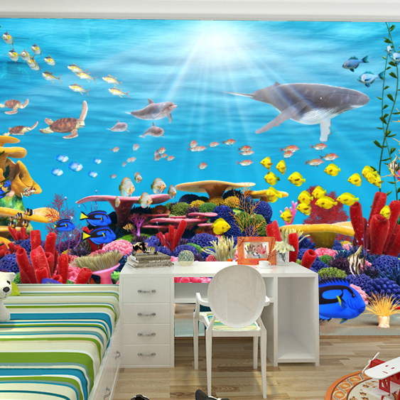 Buy cartoon wallpaper kids photo murals for Cartoon mural wallpaper