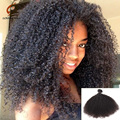 7A Brasileiro Virgem Afro Kinky Curly Hair 1 pc/lote Natural Afro Kinky Do Cabelo Humano Weave Não Transformados Feixes de Cabelo Brasileiro