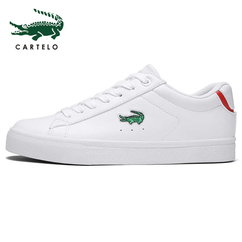CARTELO kadın ayakkabısı rahat beyaz ayakkabı erkekler ve kadınlar için basit kravat Kore versiyonu kalın alt spor öğrencileri düşük nakliye