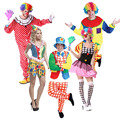 Funny Men Women Circus Clown Adult Costume Masquerade Cosplay Clothes Carnival  Halloween Costumes Birthday Party