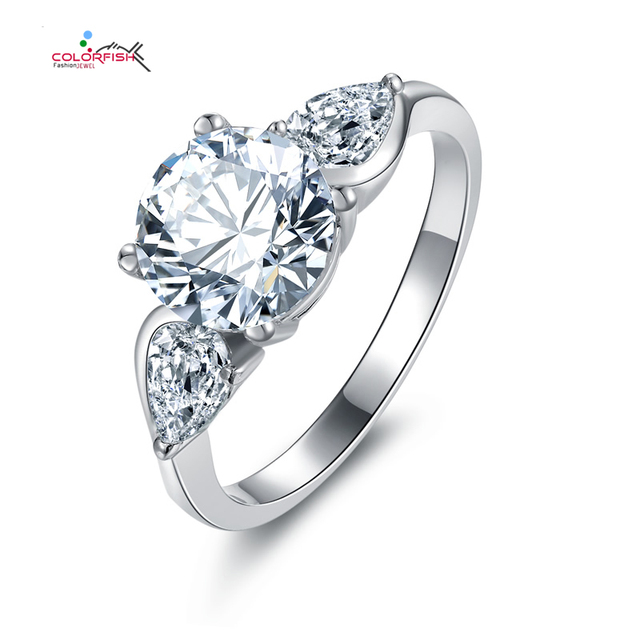 Trendy 19 ct Sona Simulated Diamond Wedding Band Sterling Silver 3