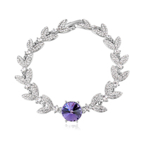 2016 Baffin Crystal Leaves Bracelet Bangles For Women Party Wedding Accessories Made With SWAROVSKI Elements