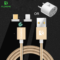 FLOVEME Phone Charger Micro USB Magnetic Cable For Samsung Galaxy Xiaomi Huawei Charger Android USB Cable For iPhone 6 7 5 5S 8