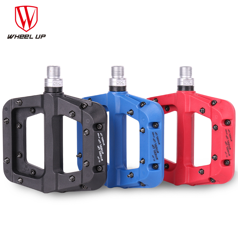 WHEEL UP Bike Bicycle Pedals MTB Road Bike BMX Nylon Fiber Ultralight Pedals 3 Bearings Professional Bicycle Parts New Design