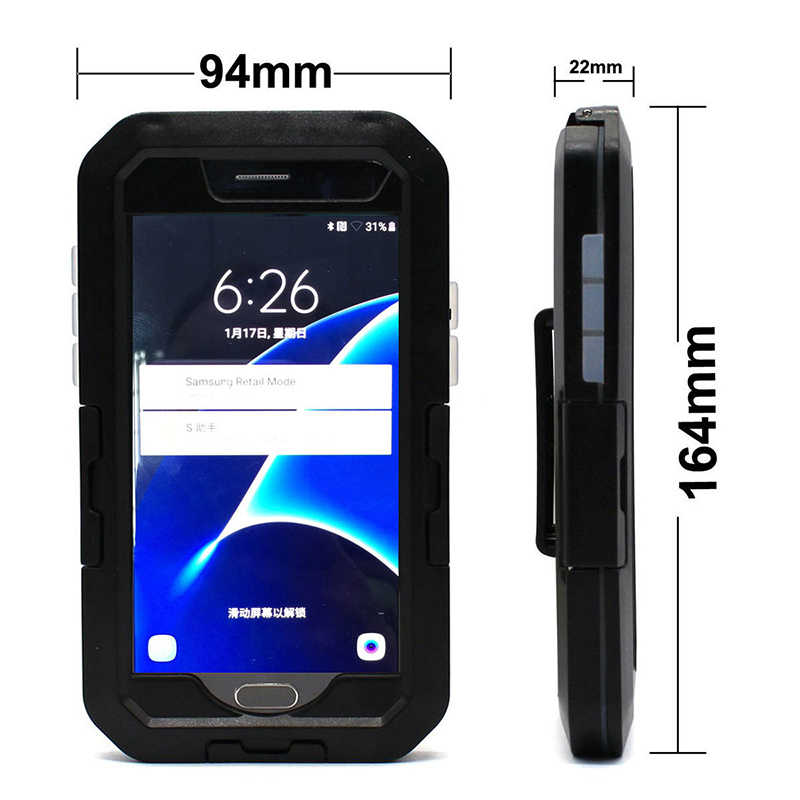 Universal Motorcycle Motor Fiets Telefoon Houder Accessoires Telefoon Beschermhoes Ondersteuning Stand Mobiele Telefoon Voor Iphone X 8 7