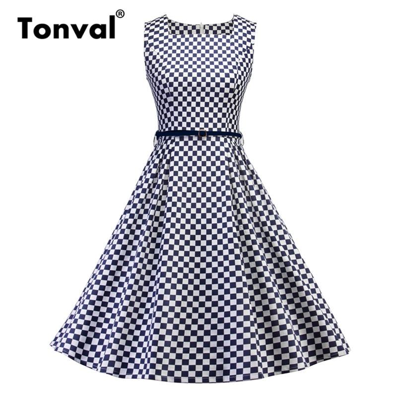 Detail Feedback Questions about Tonval Audrey Hepburn 1950s Plaid ... 44e6a61d1a0c