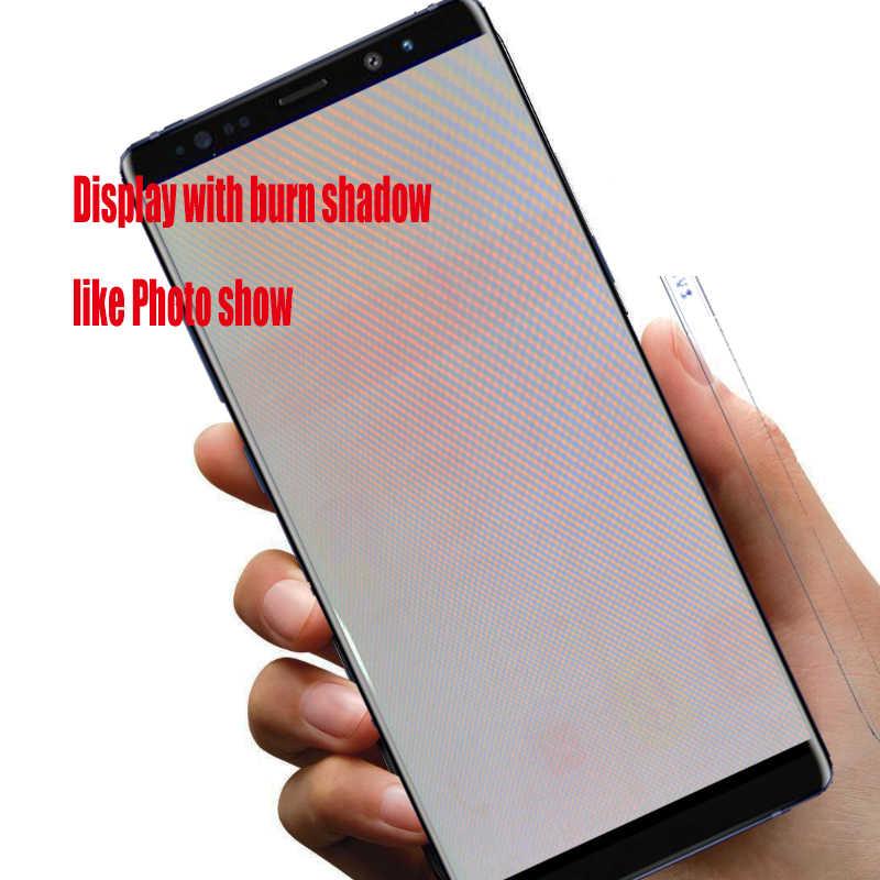 الأصلي 6.3 'عرض مع حرق العيون شاشات lcd لسامسونج غالاكسي ملاحظة 8 N9500 N950F N900D N900DS محول الأرقام بشاشة تعمل بلمس مع الإطار