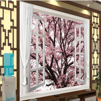 Mural Romantic Cherry Blossoms Large Murals 3d 3d Wallpaper Bedroom Living Room Tv Setting Wall Paper Scenery Customization Buy At The Price Of 15 60 In Aliexpress Com Imall Com