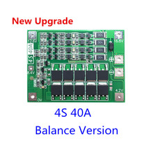 Upgrade 4S 40A Li ion Lithium Battery 18650 Charger PCB BMS Protection Board with Balance For Drill Motor 14.8V 16.8V Lipo Cell
