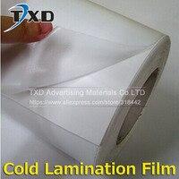 1 Roll 1.52x50M (60X164') Glossy /Matt PVC Cold Laminating Film Gum Photo for Cold Lamintor Solvent printing lamination film