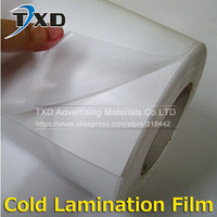 1 Roll 1.52x50M (60X164') Glossy /Matt PVC Cold Laminating Film Gum Photo for Cold Lamintor Solvent printing lamination film