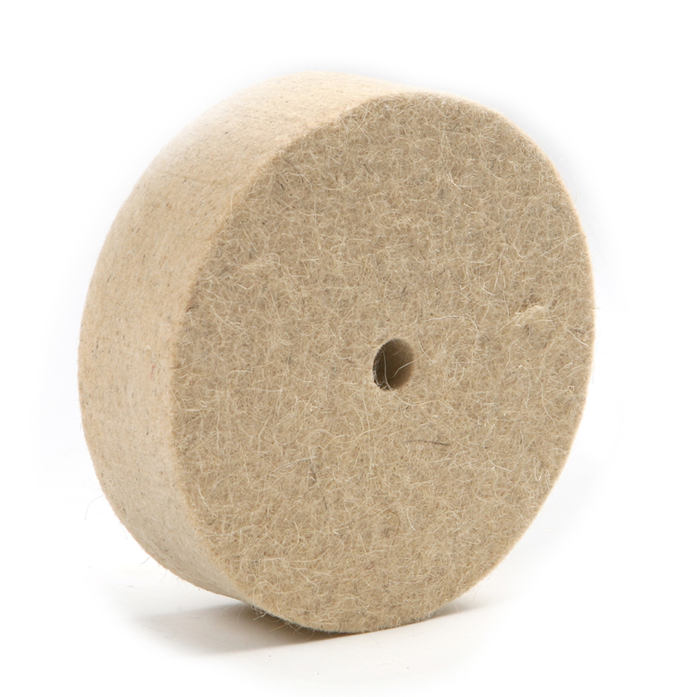 100mm 4 inch Thick Wool Felt Polisher Buffing Pad Grinding Disc Polishing Wheel